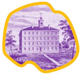 sketch of West College building circa 1790