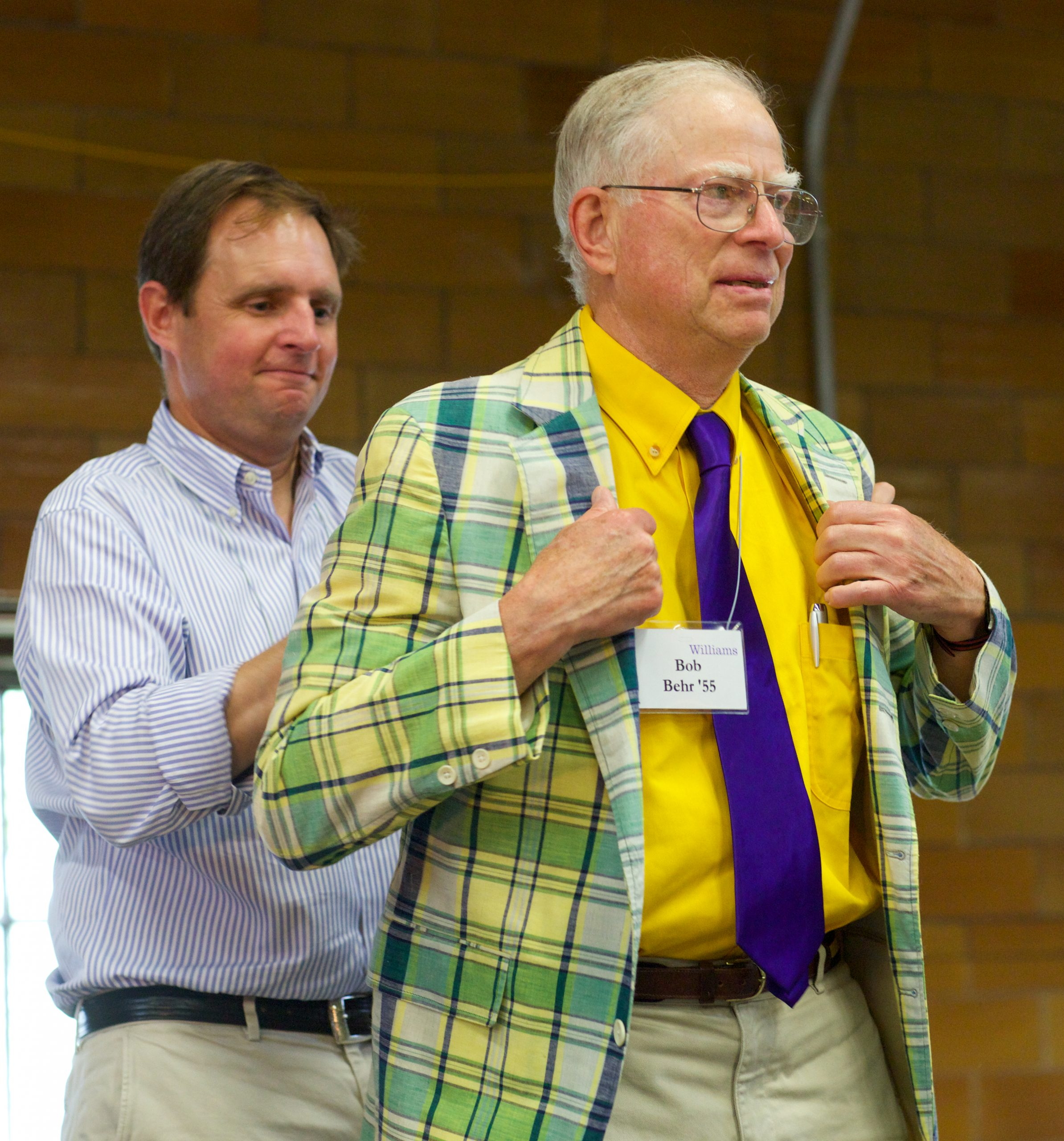 Bob Behr '55 receiving the Joseph's Coat Award