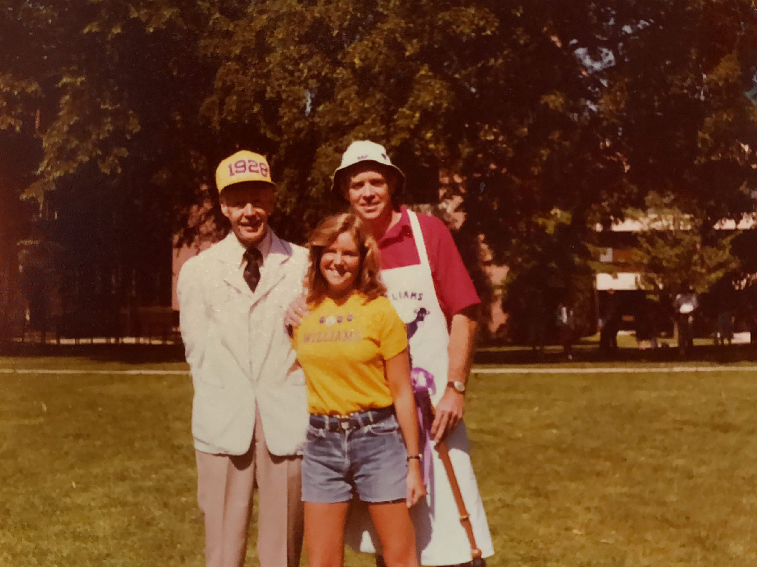 Dykeman Sterling '28, Amy Sterling '78 and Peter Sterling '53