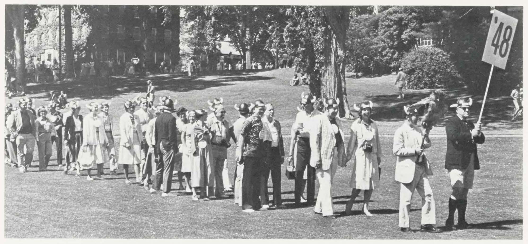 Alumni Review 1978 3 Summer - class of 1948 reunion cow headgear 2