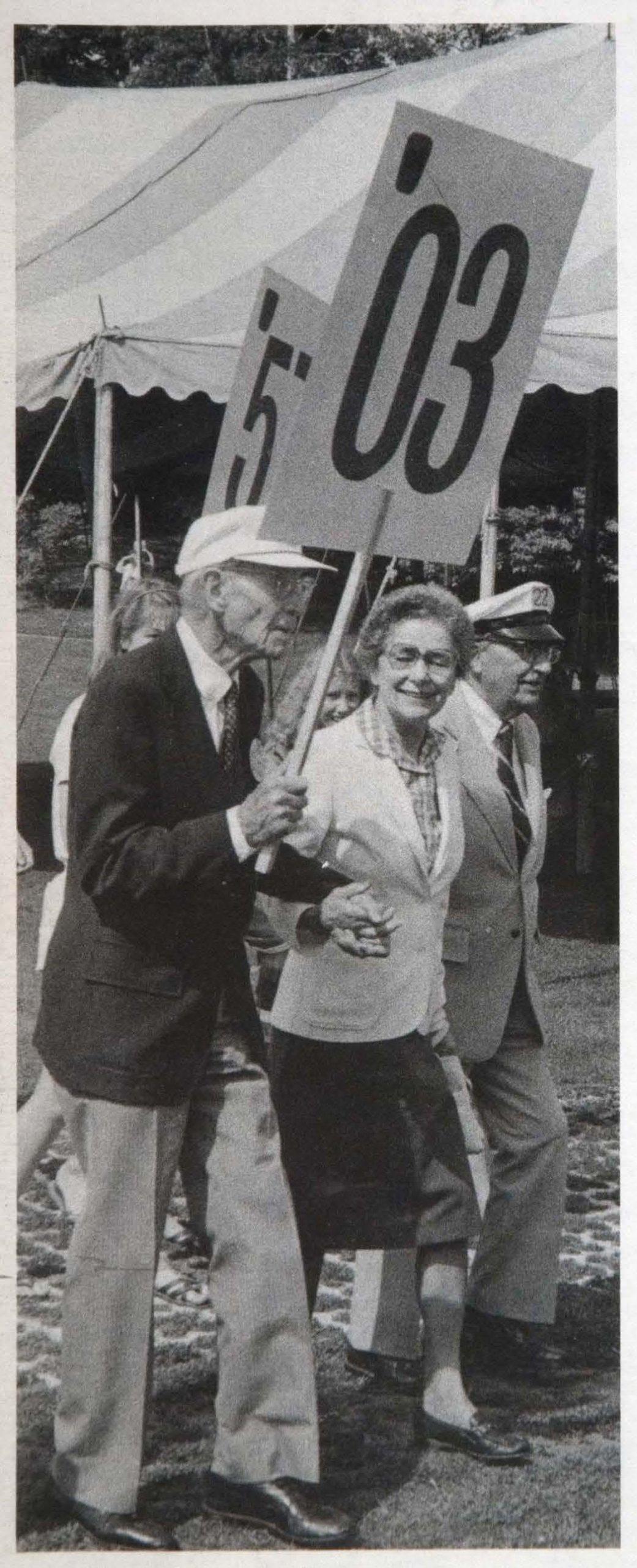 William M. Cooper, Class of 1903, celebrating his 79th reunion in 1982 (Summer 1982 Alumni Review)