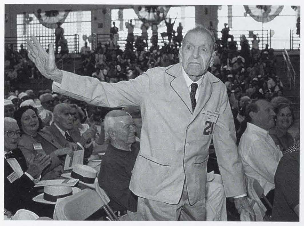 George M. White, Class of 1920, celebrating his 79th reunion in 1999 (Summer 1999 Alumni Review)
