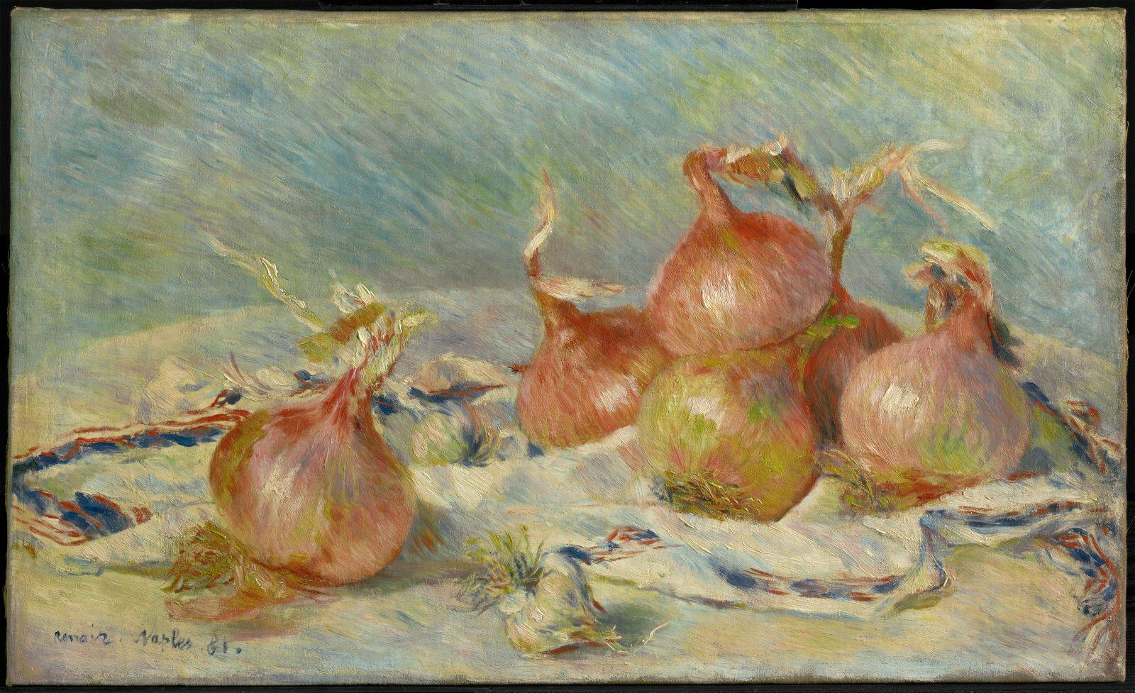 Pierre-Auguste Renoir, Onions, 1891. Recreated April 22, 2021.