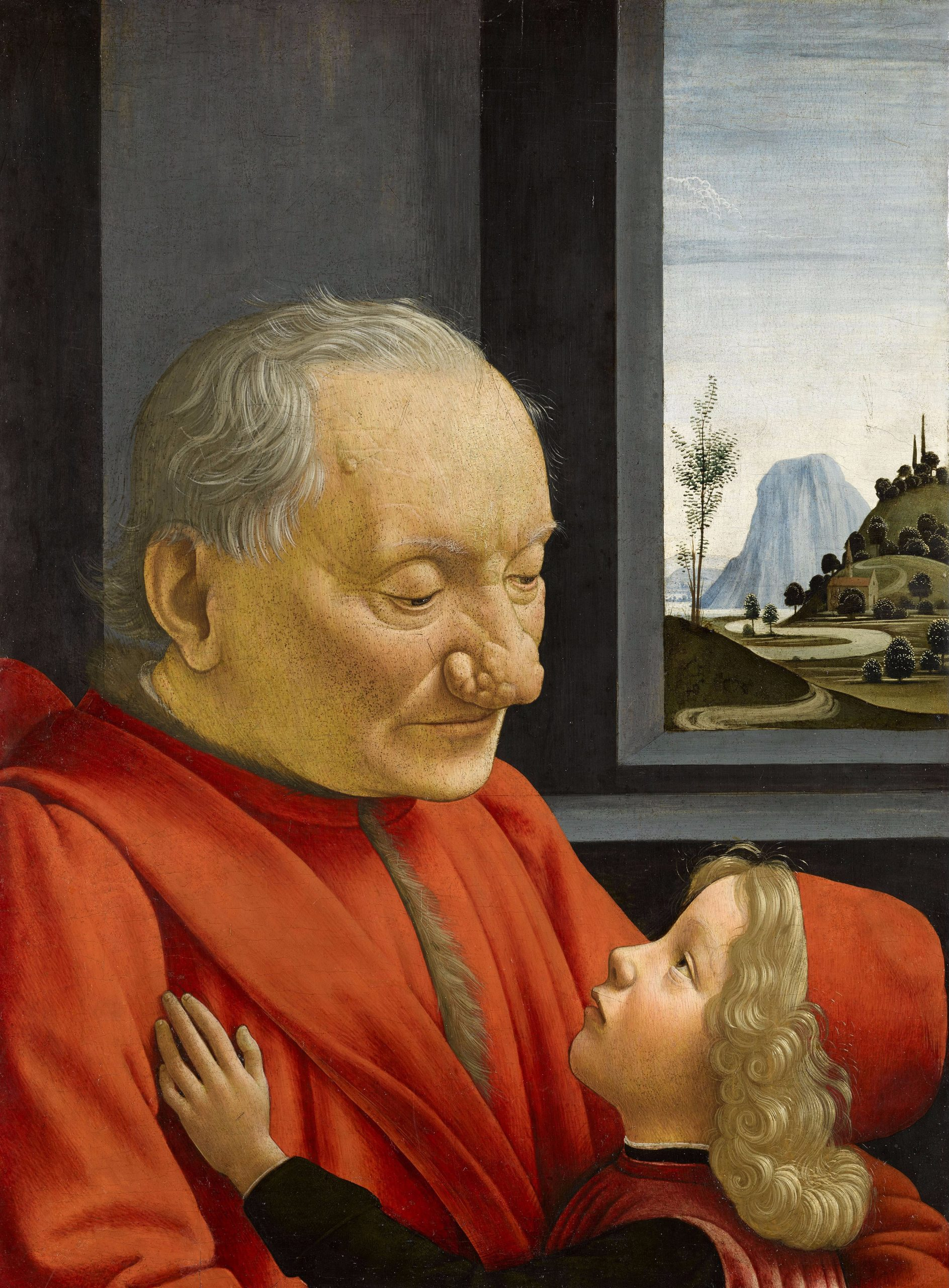 Domenico Ghirlandaio, An Old Man and his Grandson, c. 1480. Recreated April 23, 2021.