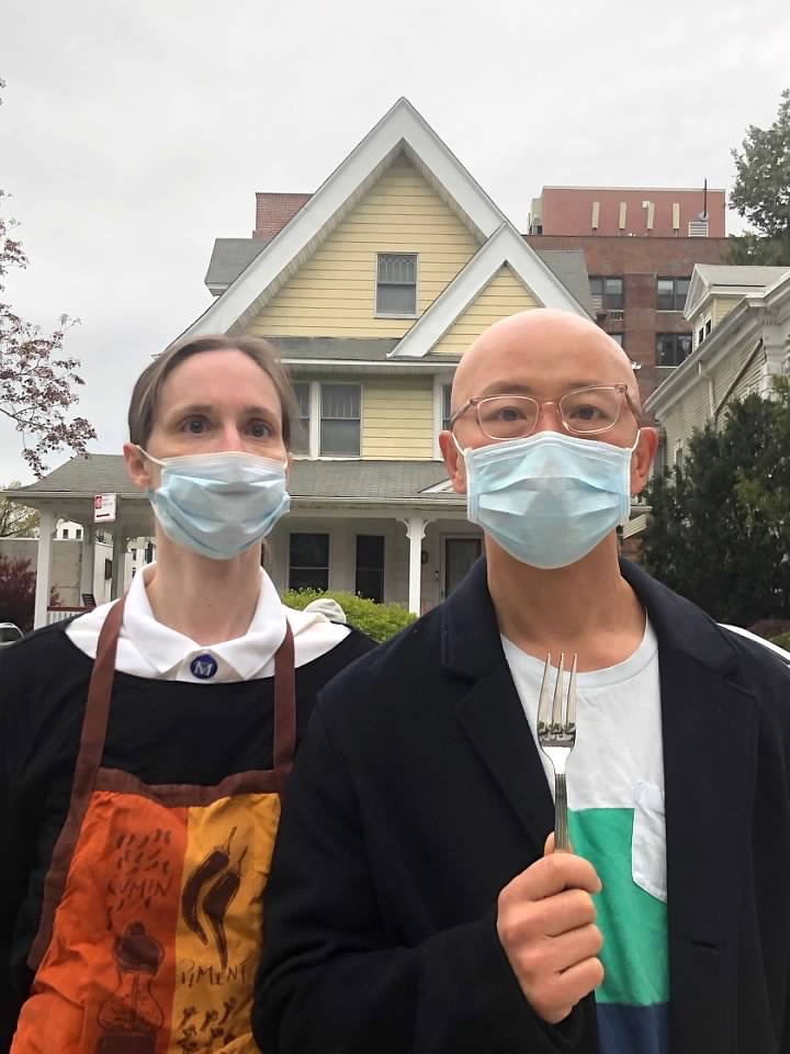 Grant Wood, American Gothic, 1930. Recreated April 29, 2020