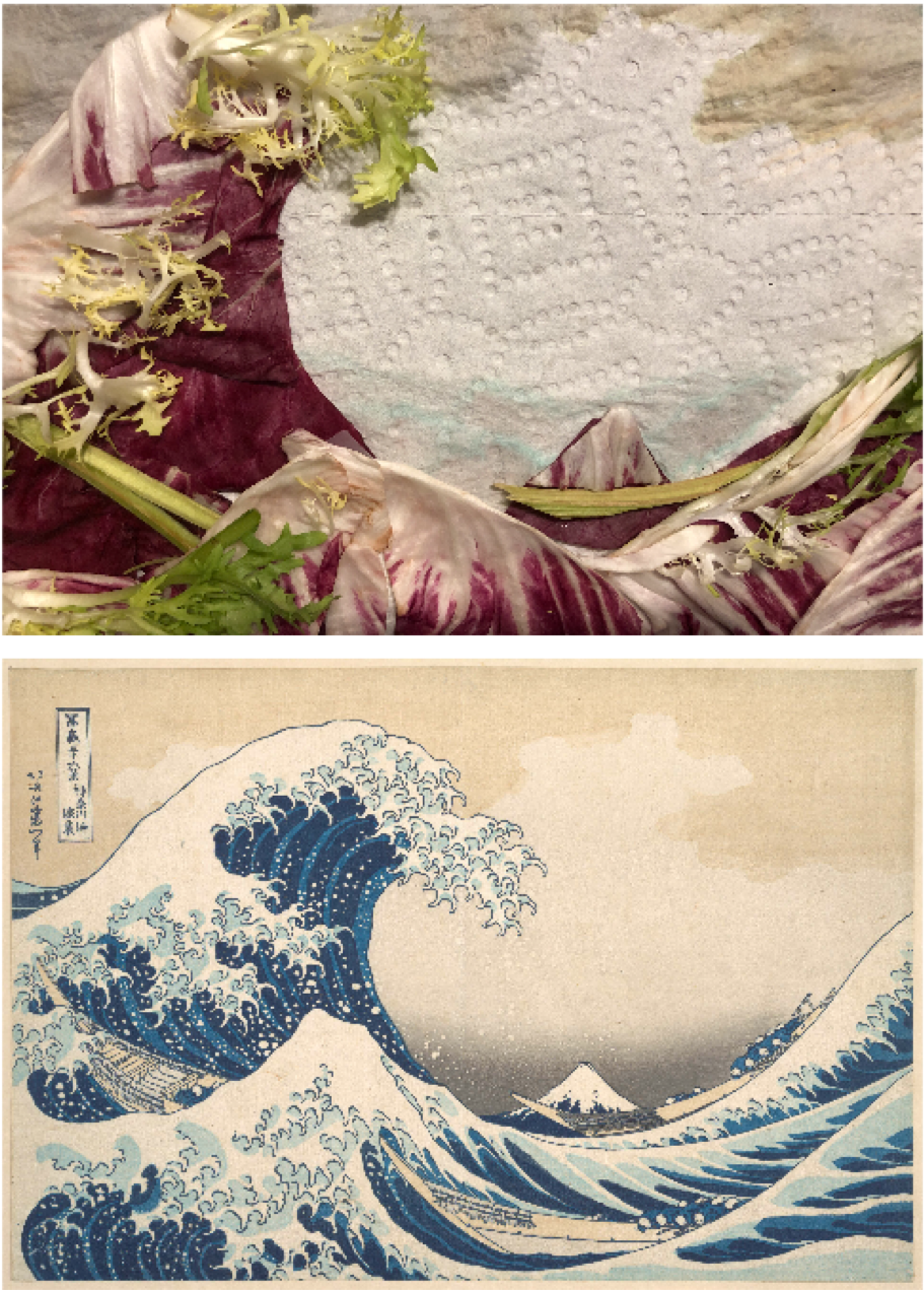 Katsushika Hokusai, Under the Wave off Kanagawa, c. 1830-1832. Recreated June 5, 2020.