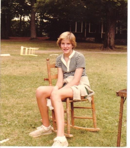 Leslie Senke at camp
