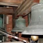 An interior view of chapel bells