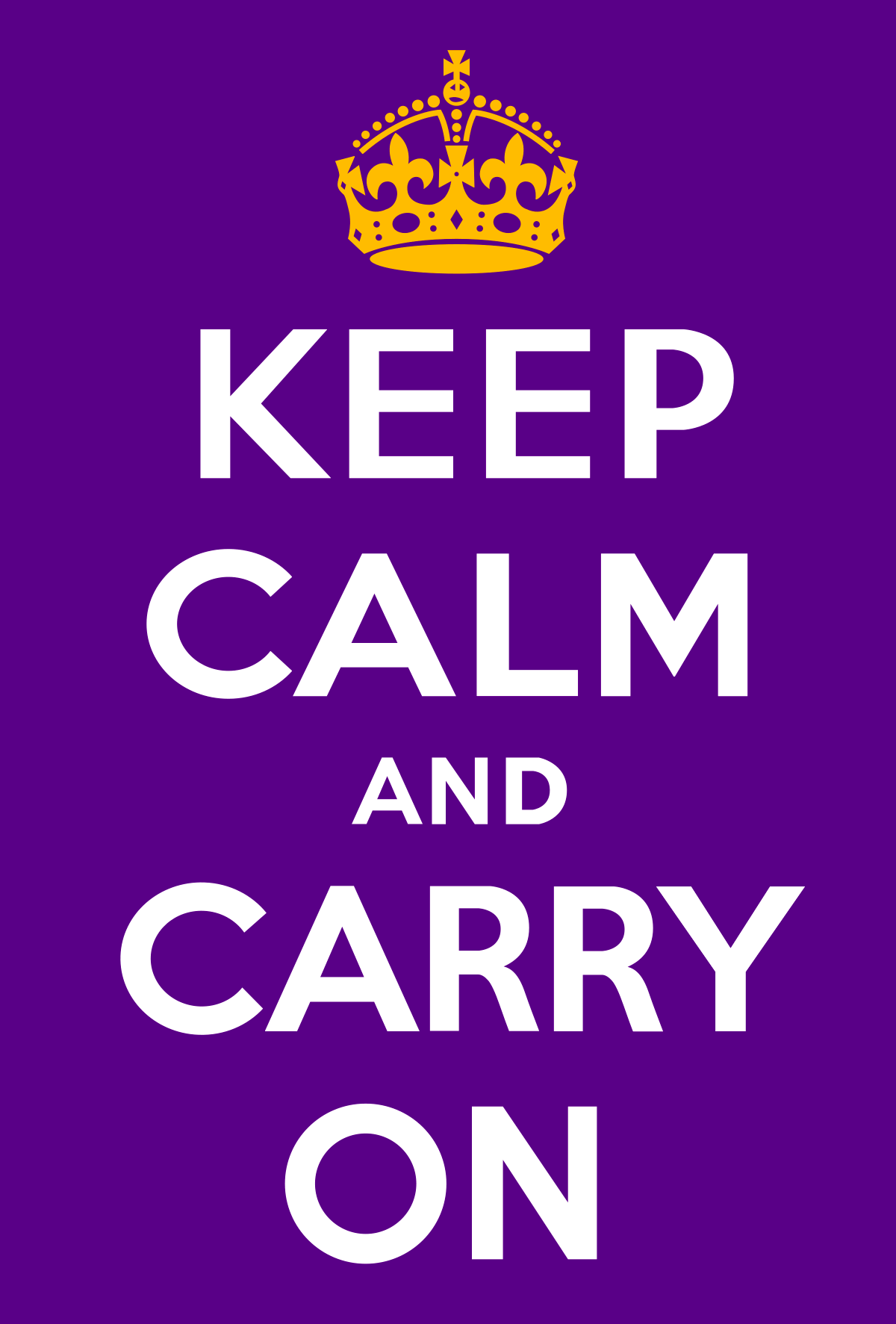 Keep calm and carry on graphic.