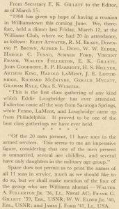 A clip from the June 1943 Alumni Review about E. K. Gillett.