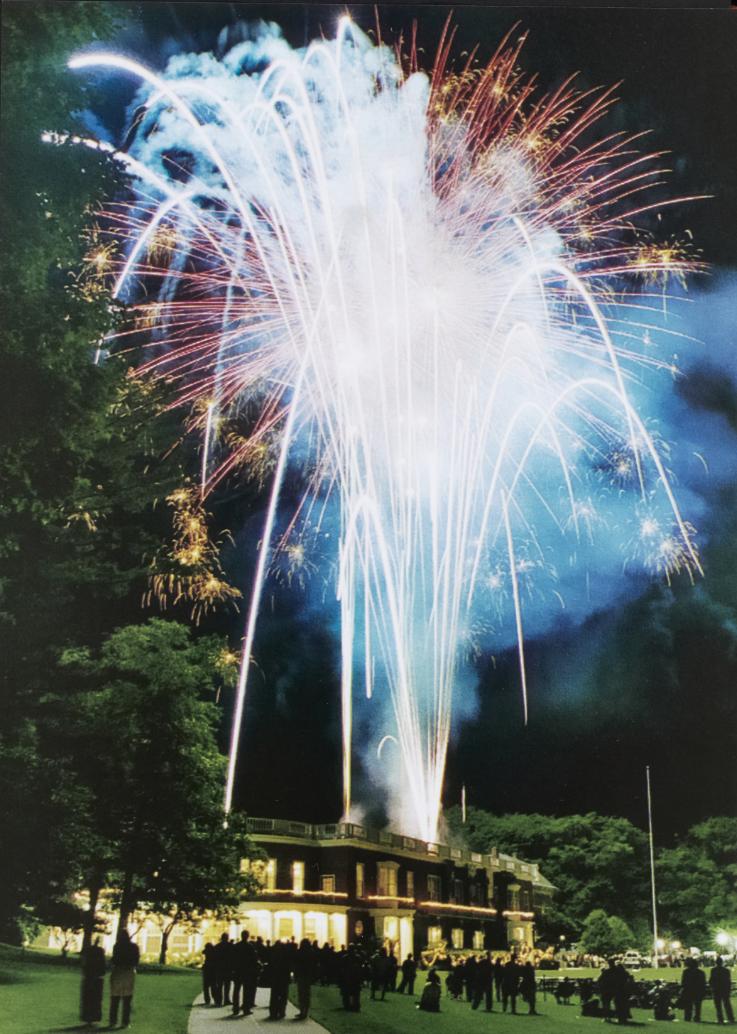 Fireworks over Baxter Hall