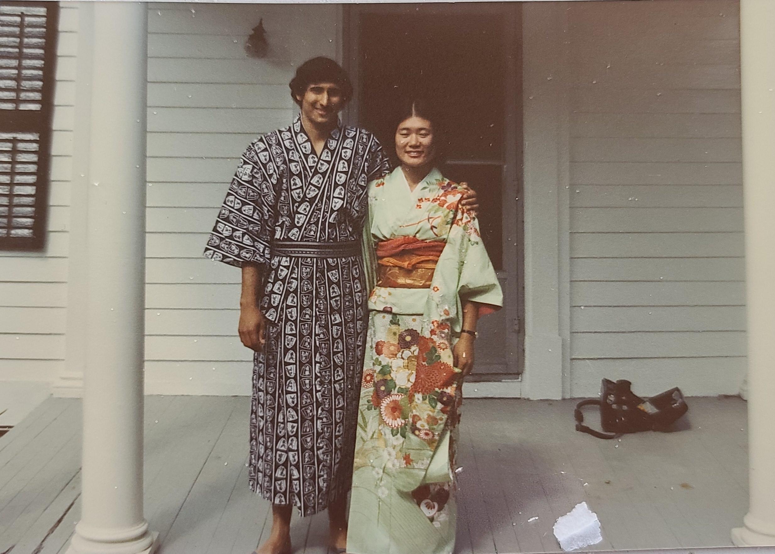 Hiroko Imamura with her Husband Kamla