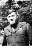 """Thompson was known with the first Army as 'Beaver' and 'The Mobile Hedgerow,' for he sported the best known full-fledged beard in the American Army in Europe."" (July 1945 Alumni Review) Photo: US Army blog"