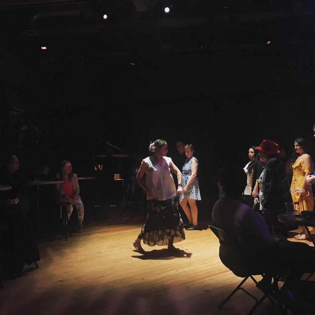 Teaching the Puerto Rican folkloric dance of Plena at MASS MoCA. Photo Credit: Laura Thompson