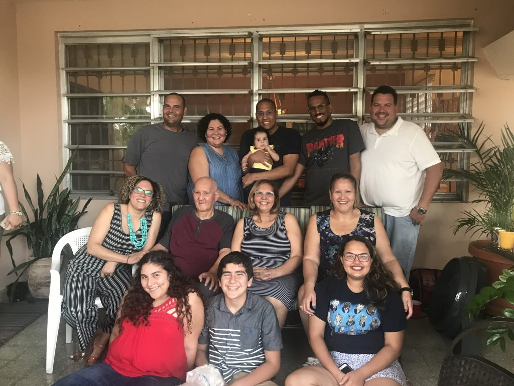 Maternal side of family in Puerto Rico. Photo by Zorelly