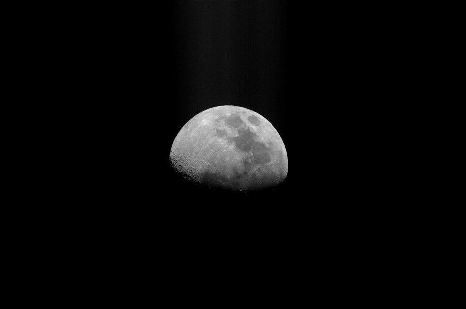 Image of the moon taken with a Williams College telescope