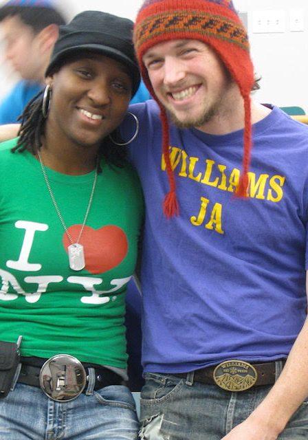 Kim and Morgan in 2008