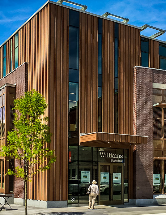 Williams bookstore exterior on sunny day